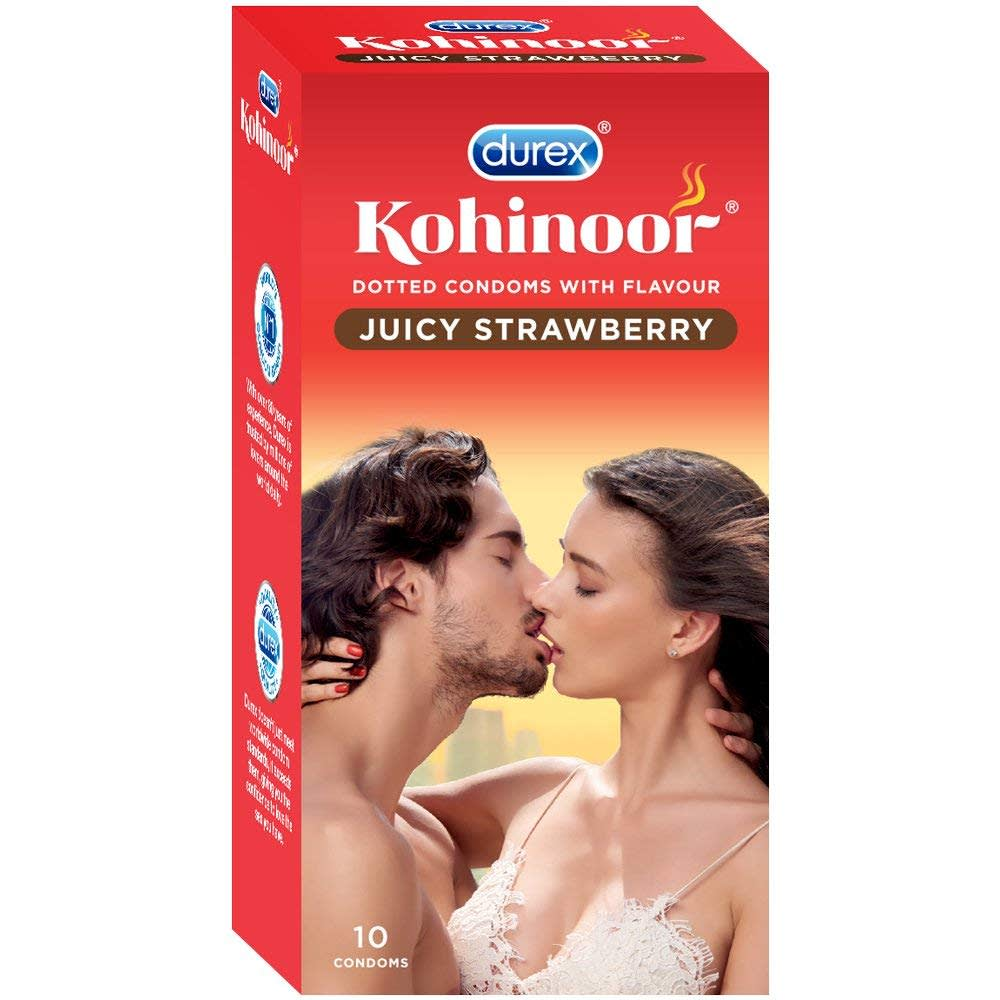 Durex Kohinoor Condom Juicy Strawberry 10'S