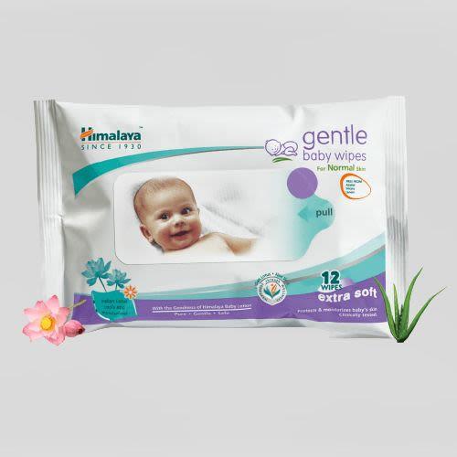 Himalaya Gentle Baby Wipes-(XL-12 Wipes)