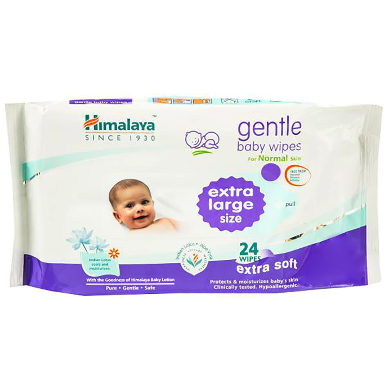 Himalaya Gentle Baby Wipes-(XL-24 Wipes)