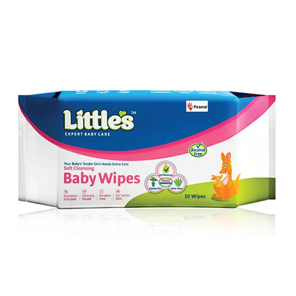 Little's Soft Cleansing Baby Wipes- 30's