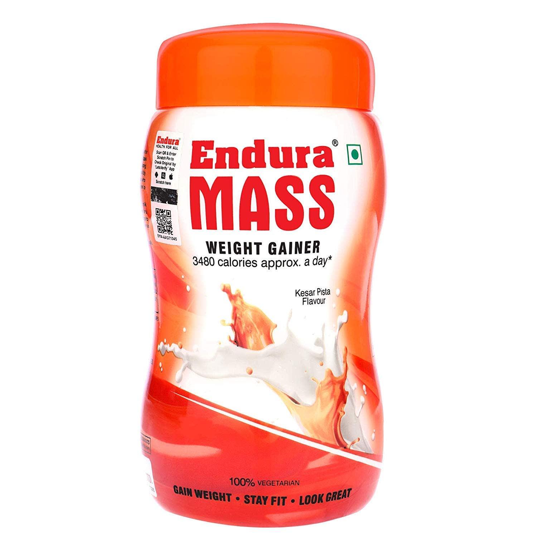 Endura Mass Weight Gainer Kesar Pista