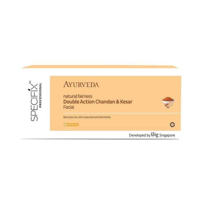 VLCC Specifix Professional Ayurveda Facial Kit Double Action Chandan & Kesar