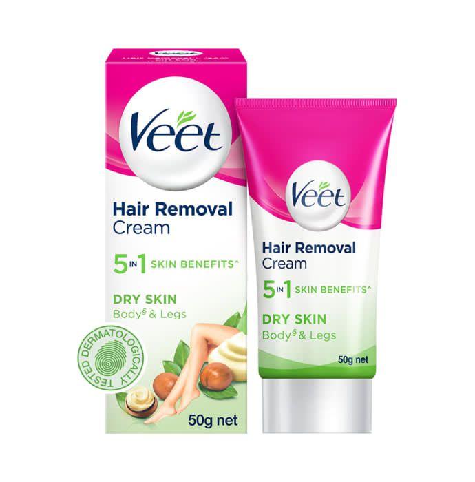 Veet 5 in 1 Skin Benefits Hair Removal Dry Skin Cream