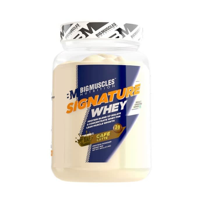 Big Muscles Nutrition Signature Whey Protein Cafe Latte
