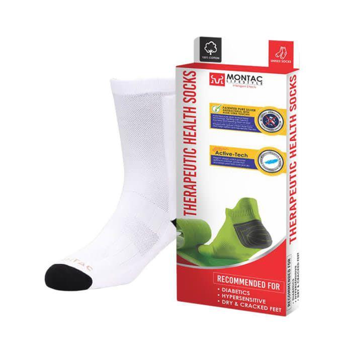 Montac Lifestyle Therapeutic Health Socks White