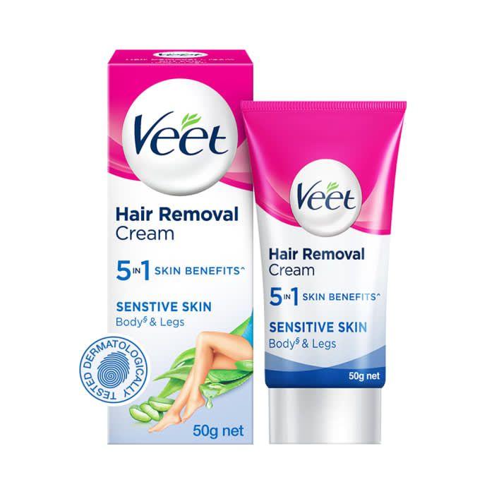 Veet 5 in 1 Skin Benefits Hair Removal Sensitive Cream