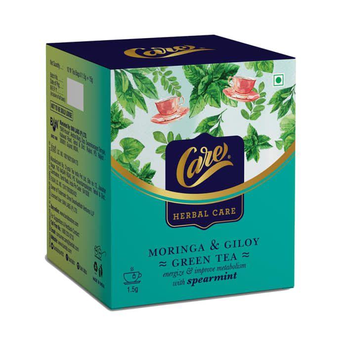 Care Herbal Care Moringa & Giloy Green Tea (1.5gm Each) Spearmint