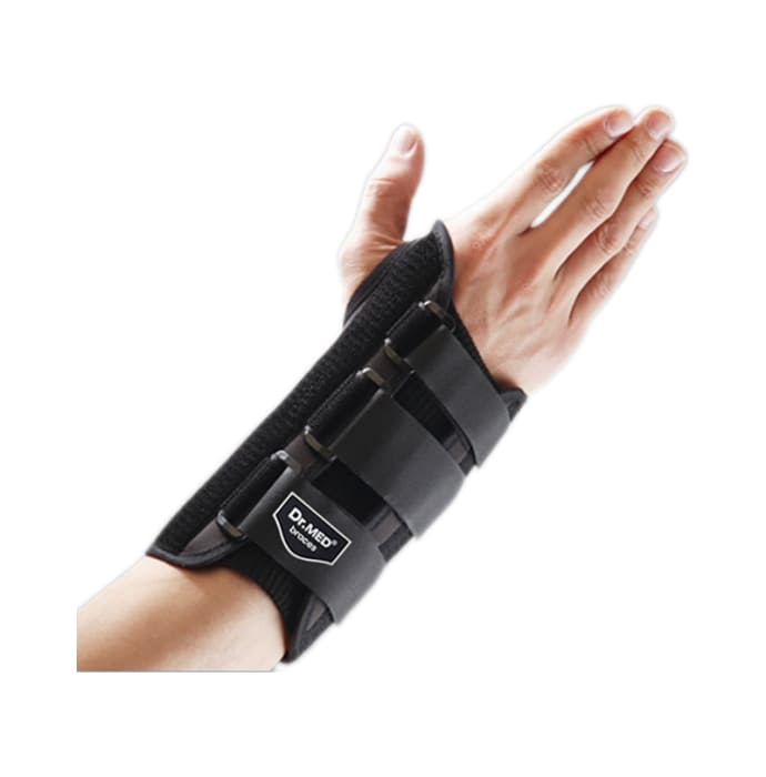 Dr MED Wrist Splint Standard DR-W021 Large Black Left