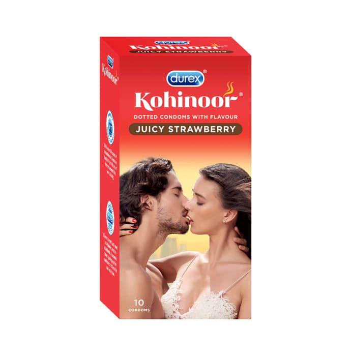 Durex Kohinoor Condom Juicy Strawberry
