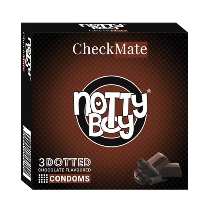 Notty Boy Dotted Condom Chocolate Check Mate