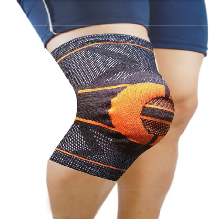 Dyna 3D Knitted Knee Cap Small Orange Left