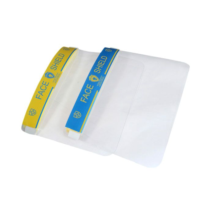 Lion Shield Yellow & Blue 500 micron Face Shield