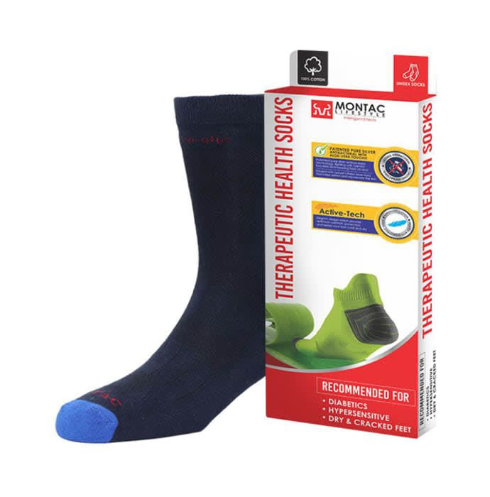Montac Lifestyle Therapeutic Health Socks Navy Blue
