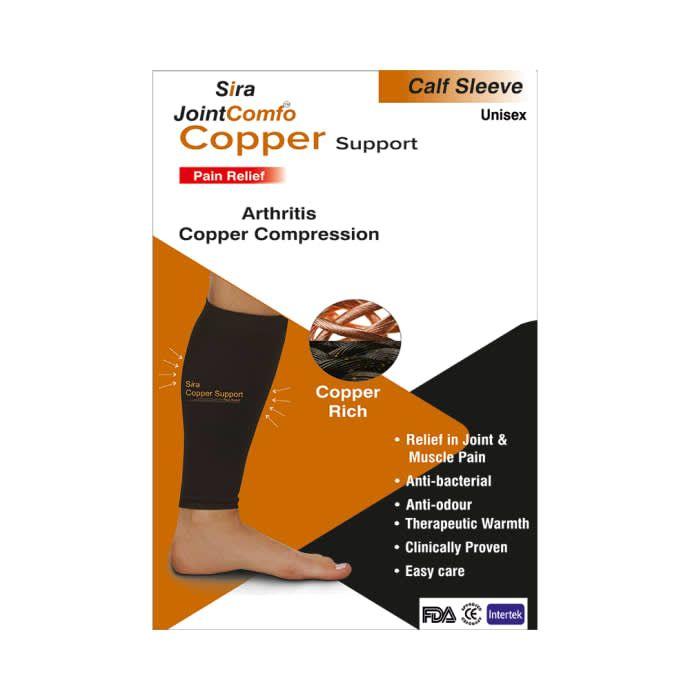 Sira Copper Compression Calf Sleeve Support Small