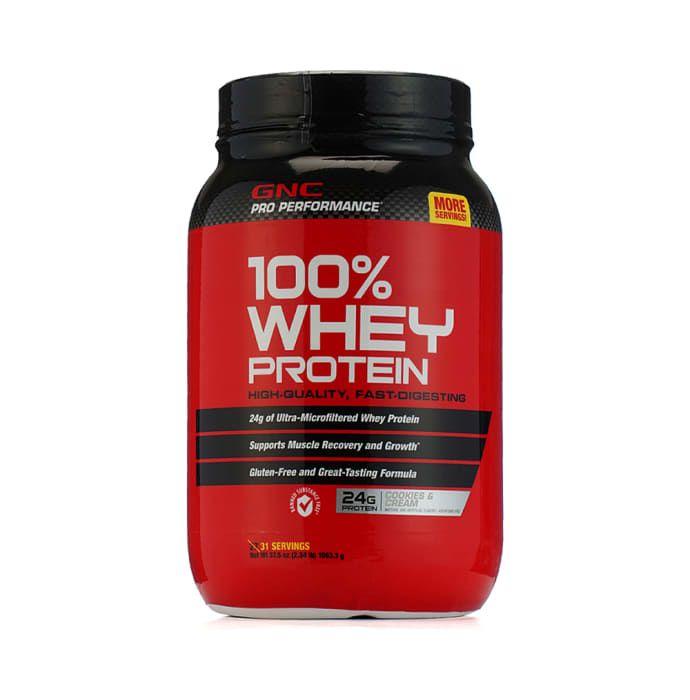 GNC Pro Performance 100% Whey Protein Powder Cookies & Cream