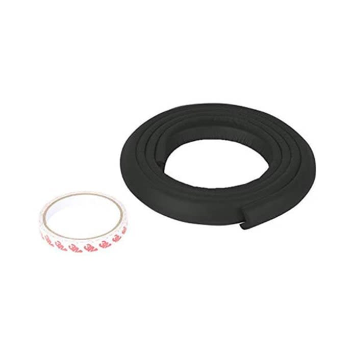Safe-O-Kid Unique High Density L-Shaped 2mtr Long Large Guard Strip Black 4 Edge