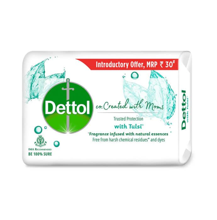 Dettol Co. Created with Moms with Tulsi Soap