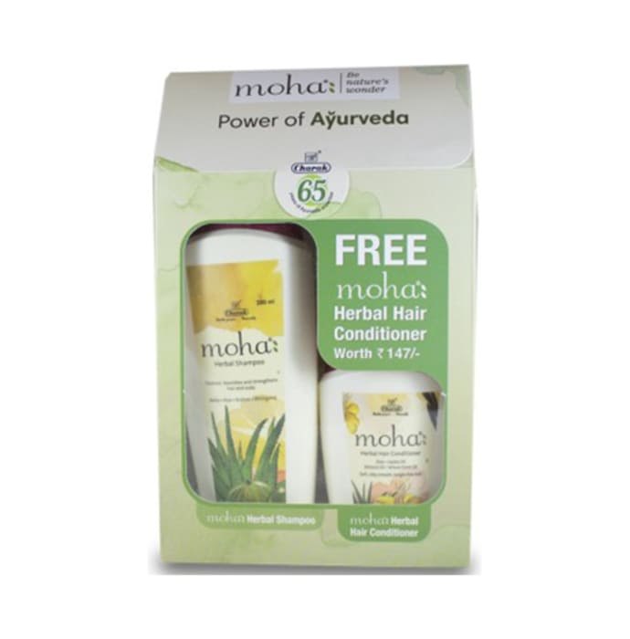 Moha Herbal Shampoo 200ml with Free Herbal Hair Conditioner 100ml
