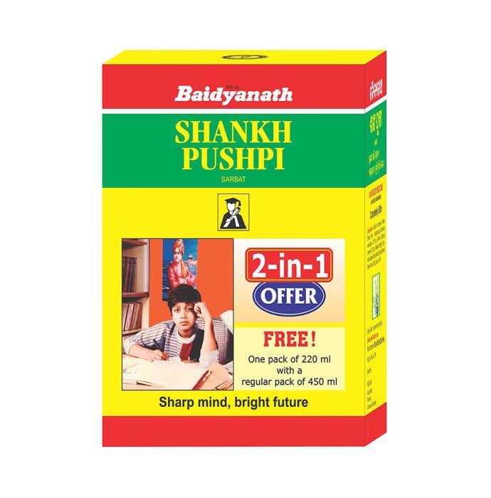 Baidyanath Shankhpushpi Sarbat 2-in-1 Offer( 450 ml with Free 220ml)