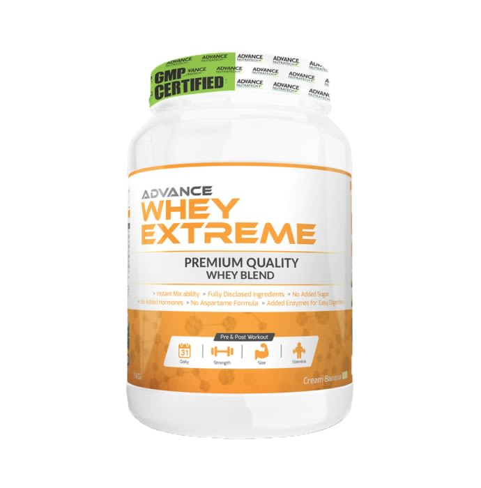 Advance Nutratech Whey Extreme Protein Powder Cream Banana