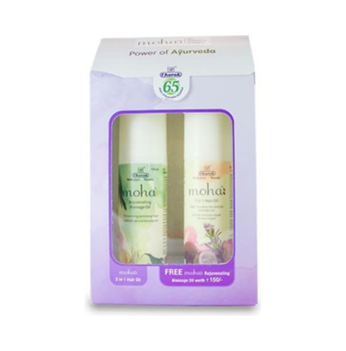 Moha 5 in 1 Hair Oil 100ml with Free Rejuvenating Massage Oil 100ml