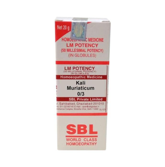 SBL Kali Muriaticum 0/3 LM