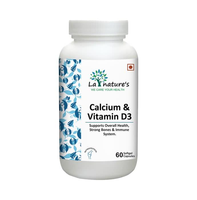 La Nature's Calcium & Vitamin D3 Softgel Capsules