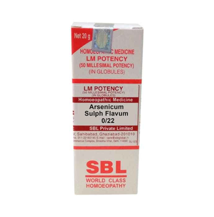 SBL Arsenicum Sulph Flavum 0/22 LM