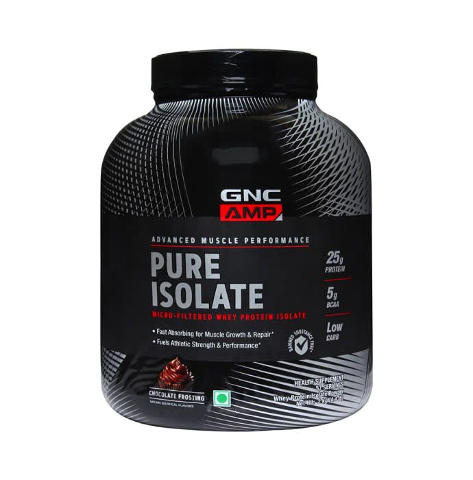 GNC AMP Pure Isolate Whey Protein Chocolate Frosting Powder