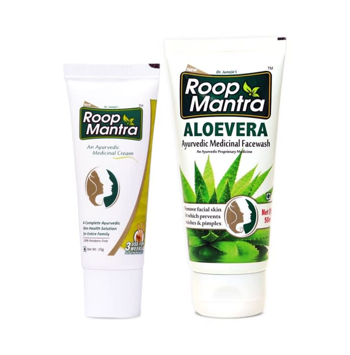 Roop Mantra Combo Pack of Face Cream 15gm & Aloevera Face Wash 50ml