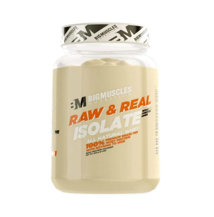 Big Muscles Raw & Real Isolate Whey Protein Powder