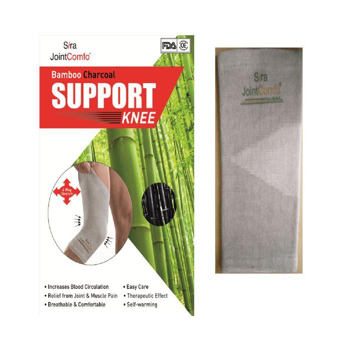 Sira Bamboo Charcoal Knee Support Medium Grey