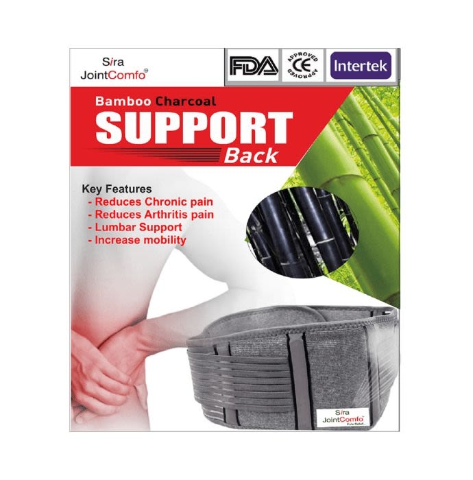 Sira Bamboo Charcoal Support Back Belt Large