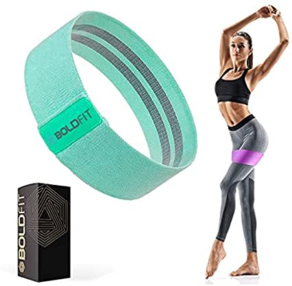 Boldfit Fabric Resistance Band - Loop Hip Band for Women & Men for Hip, Legs, Stretching, Toning Workout. Mini Loop Booty Bands for Glutes, Squats Exercise Usable in-Home & Gym. (set)