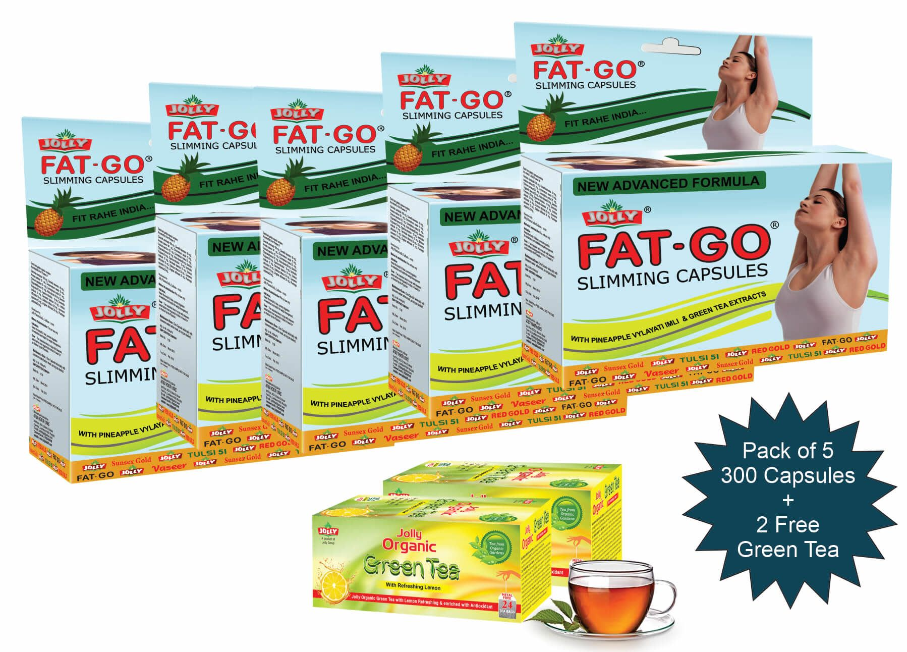 Jolly Fat Go Anti Cellulite Massage Oil (Pack of 5)