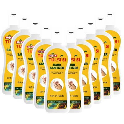 Jolly Tulsi 51 Hand Sanitizer - Pack of 10