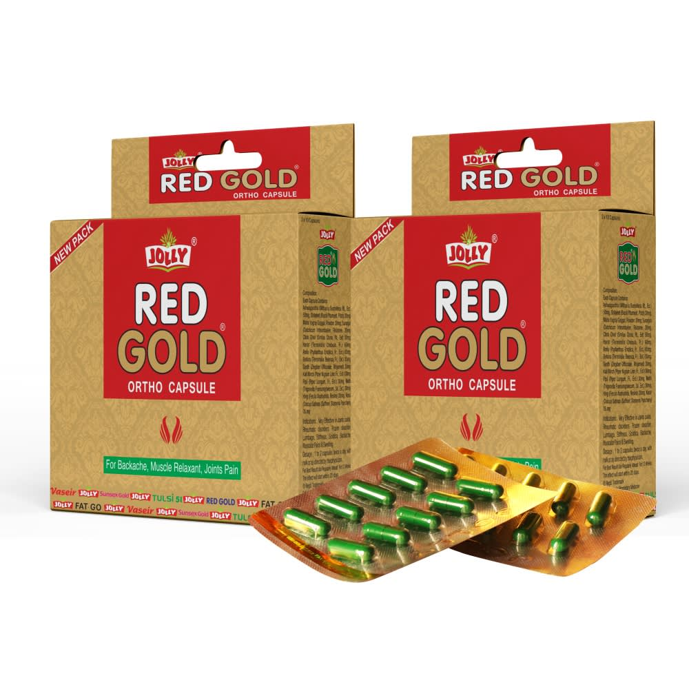 Jolly Red Gold Ortho Capsules - Pack of 2