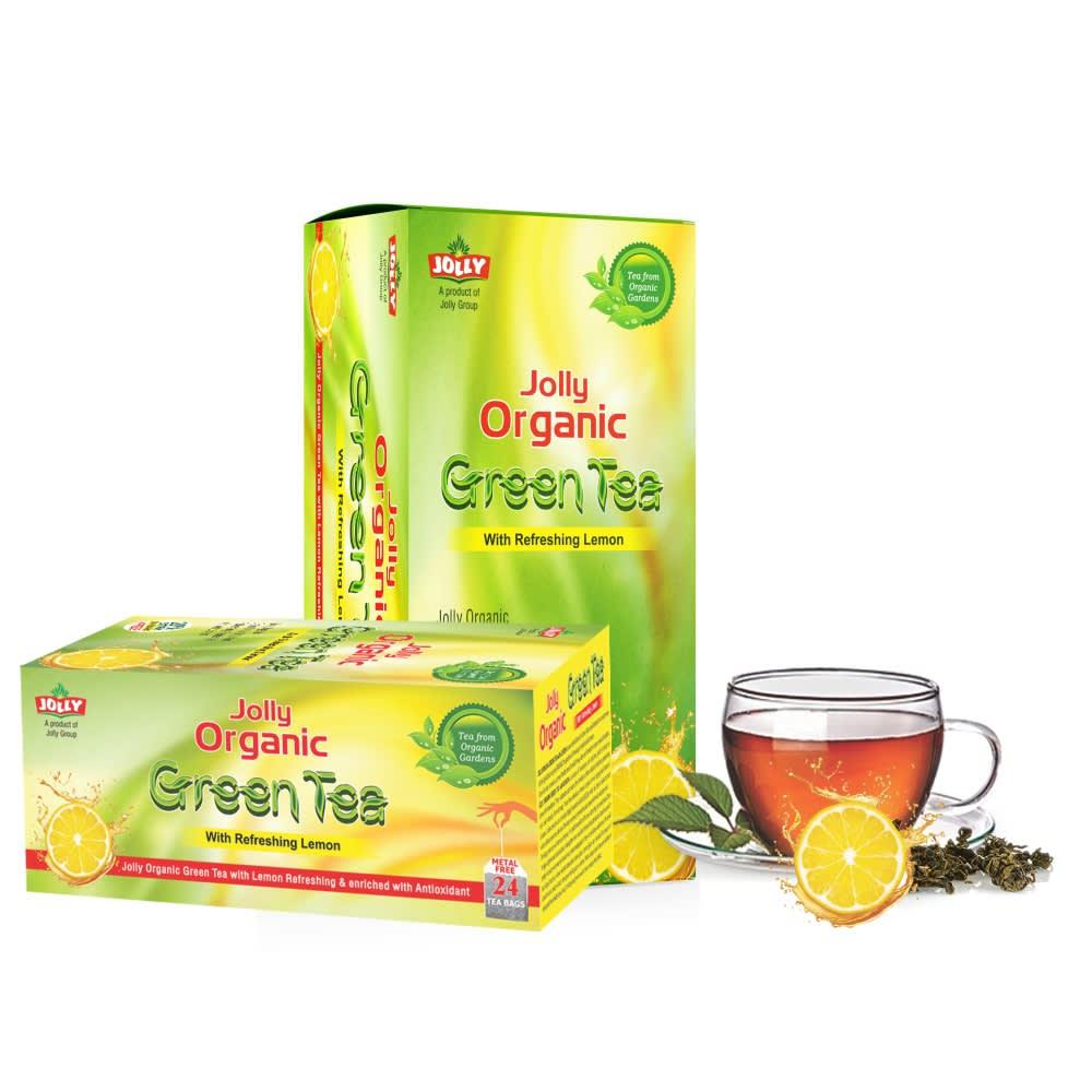 Jolly Organic Green Tea with Refreshing Lemon - Pack of 2