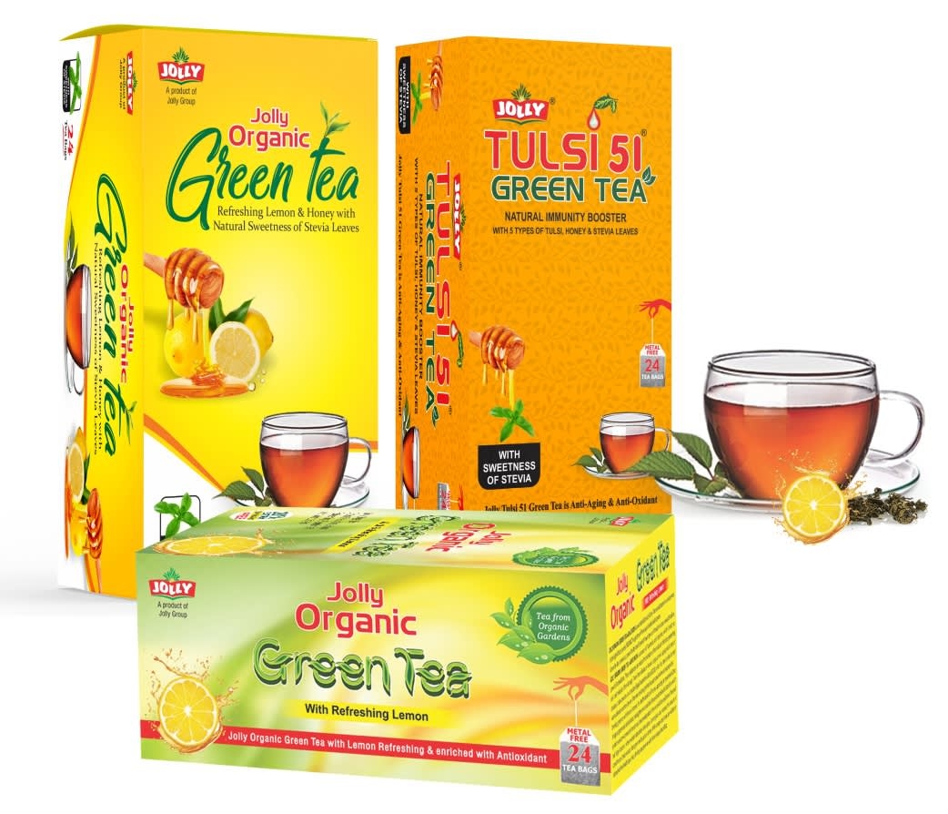 Jolly Organic Green Tea Value Pack - 3 Different Flavours