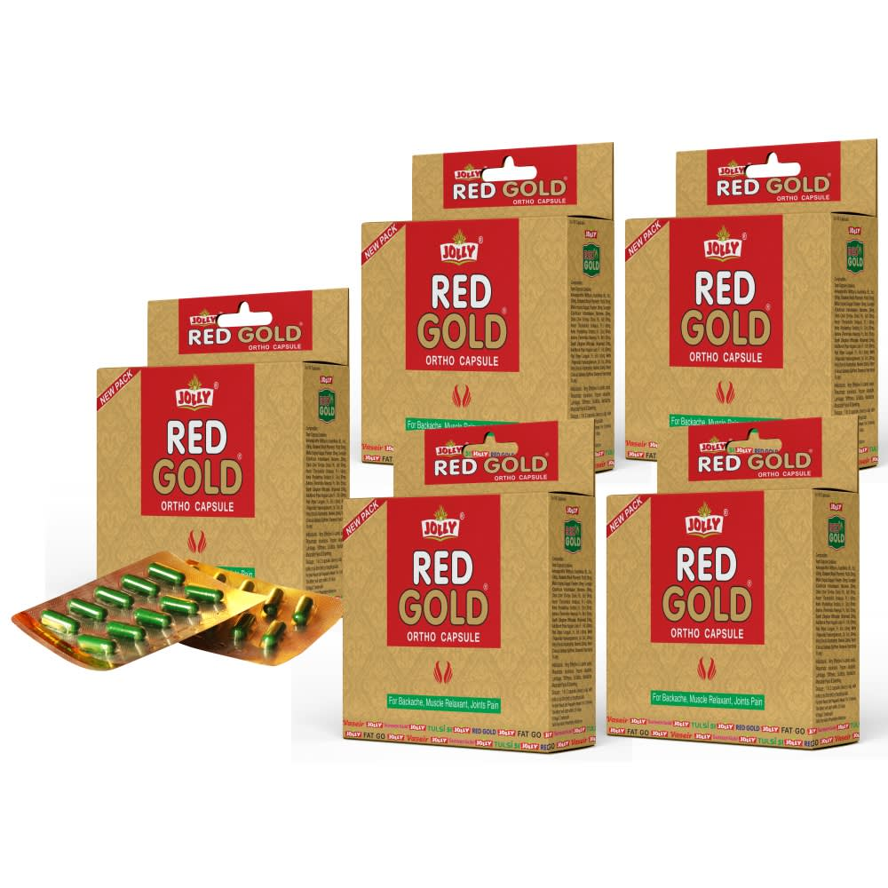 Jolly Red Gold Ortho Capsules - Pack of 5