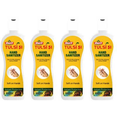 Jolly Tulsi 51 Hand Sanitizer - Pack of 4