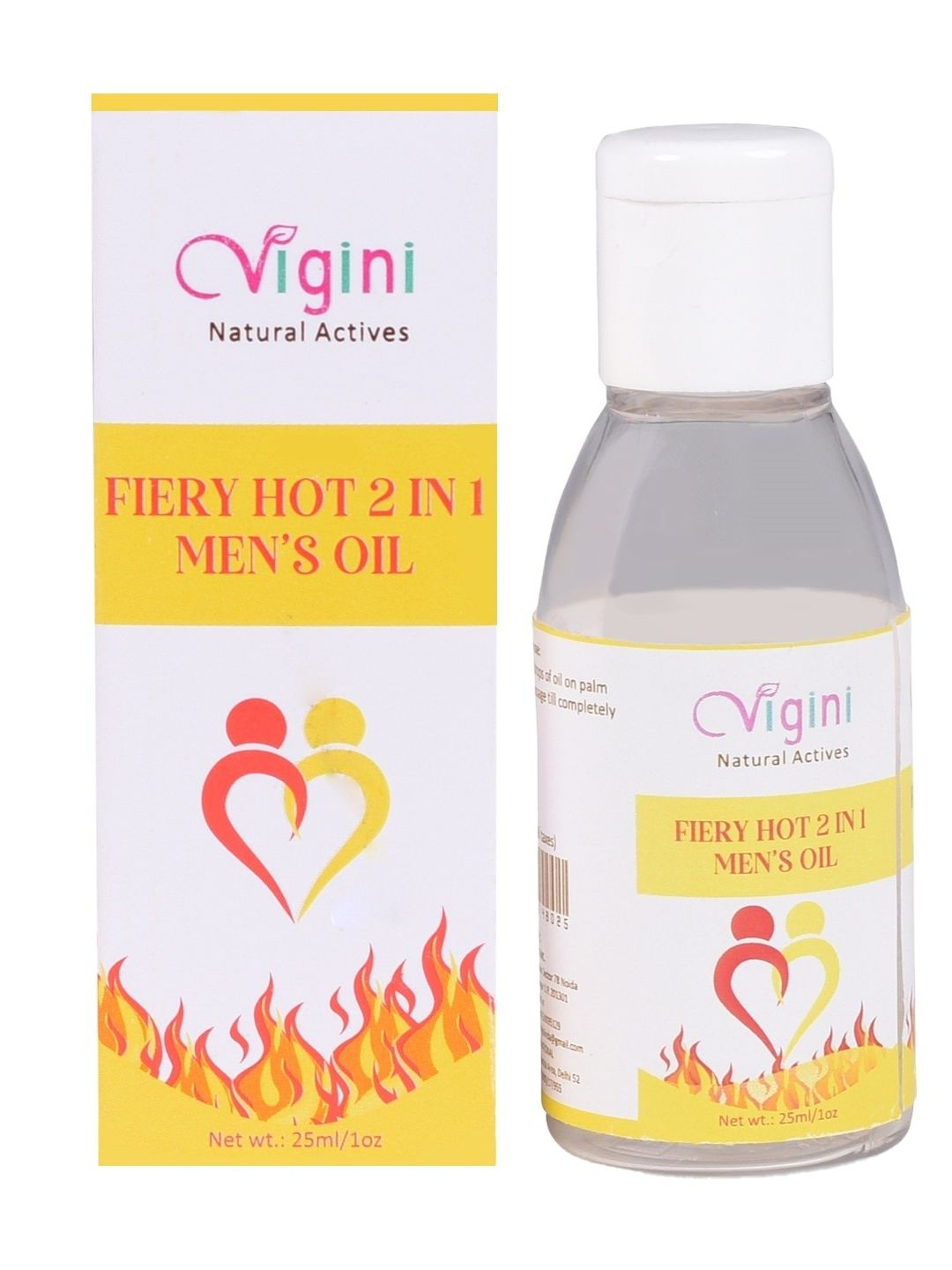 Vigini Plus 100% Natural Actives Hot  Men's Performance Energy Power Stamina Penis Enlarge Ling Booster Lubricant Delay Oil  25 Ml