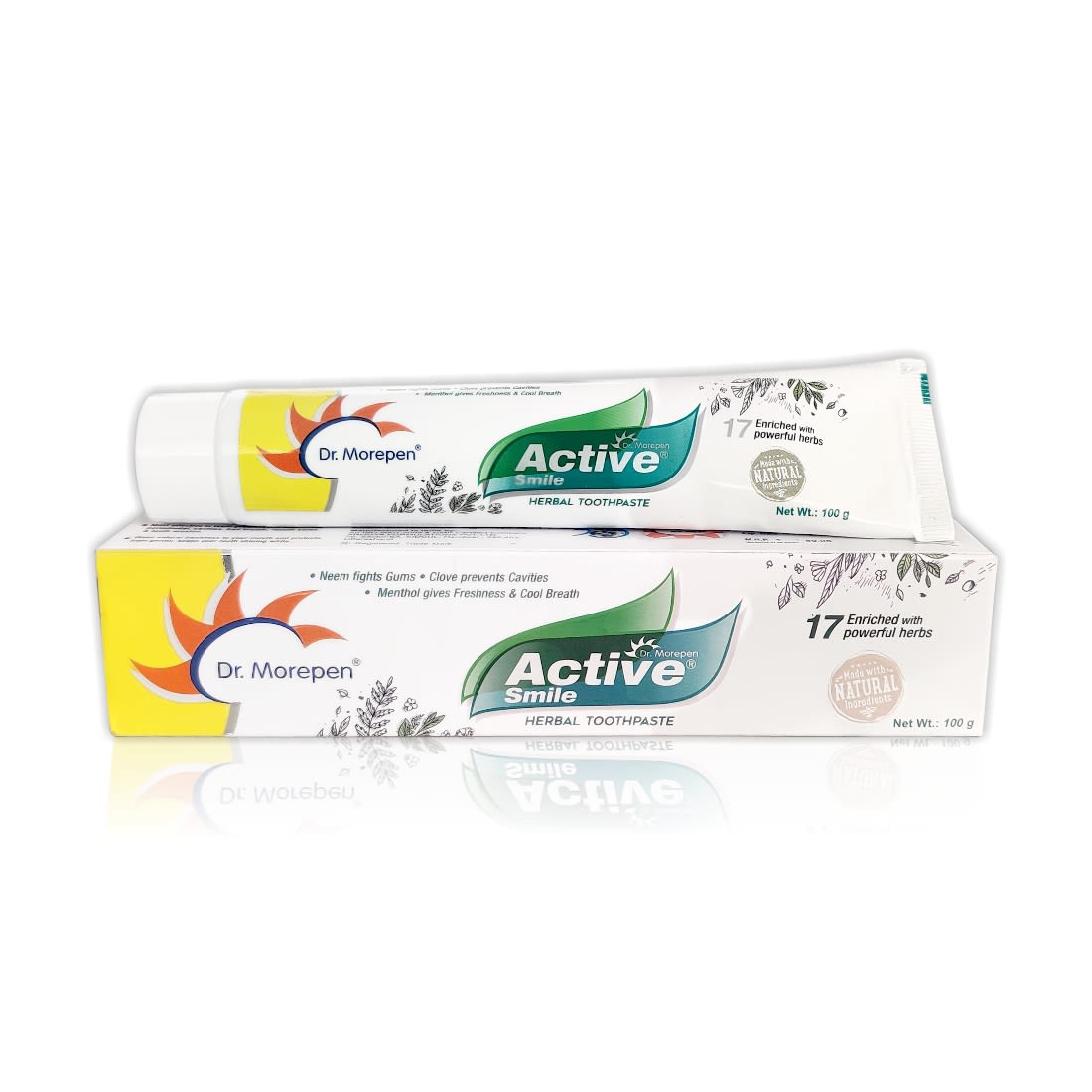 Dr. Morepen Active Smile Herbal Toothpaste - 100gm