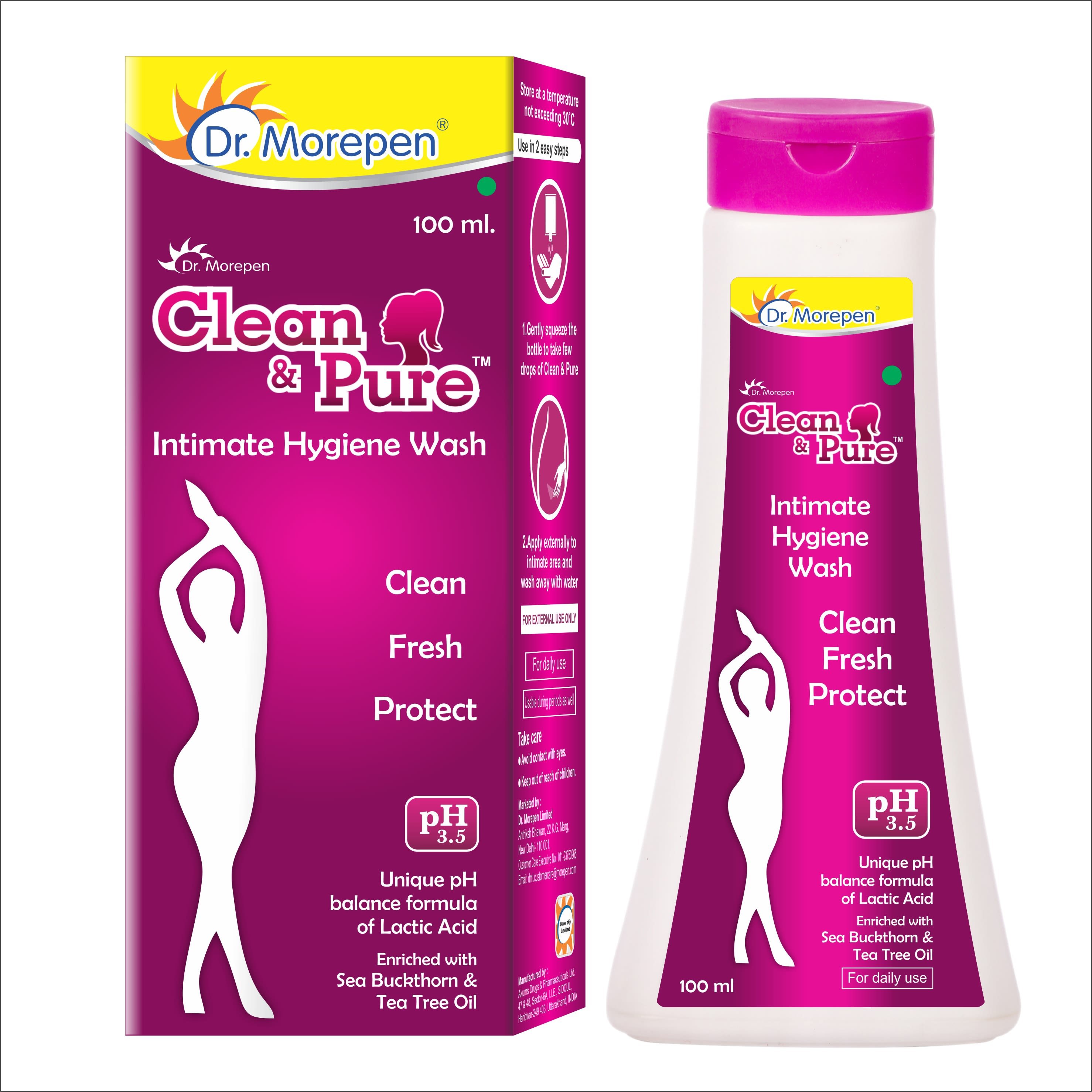 Dr. Morepen Clean & Pure Intimate Wash For Women - 100ml