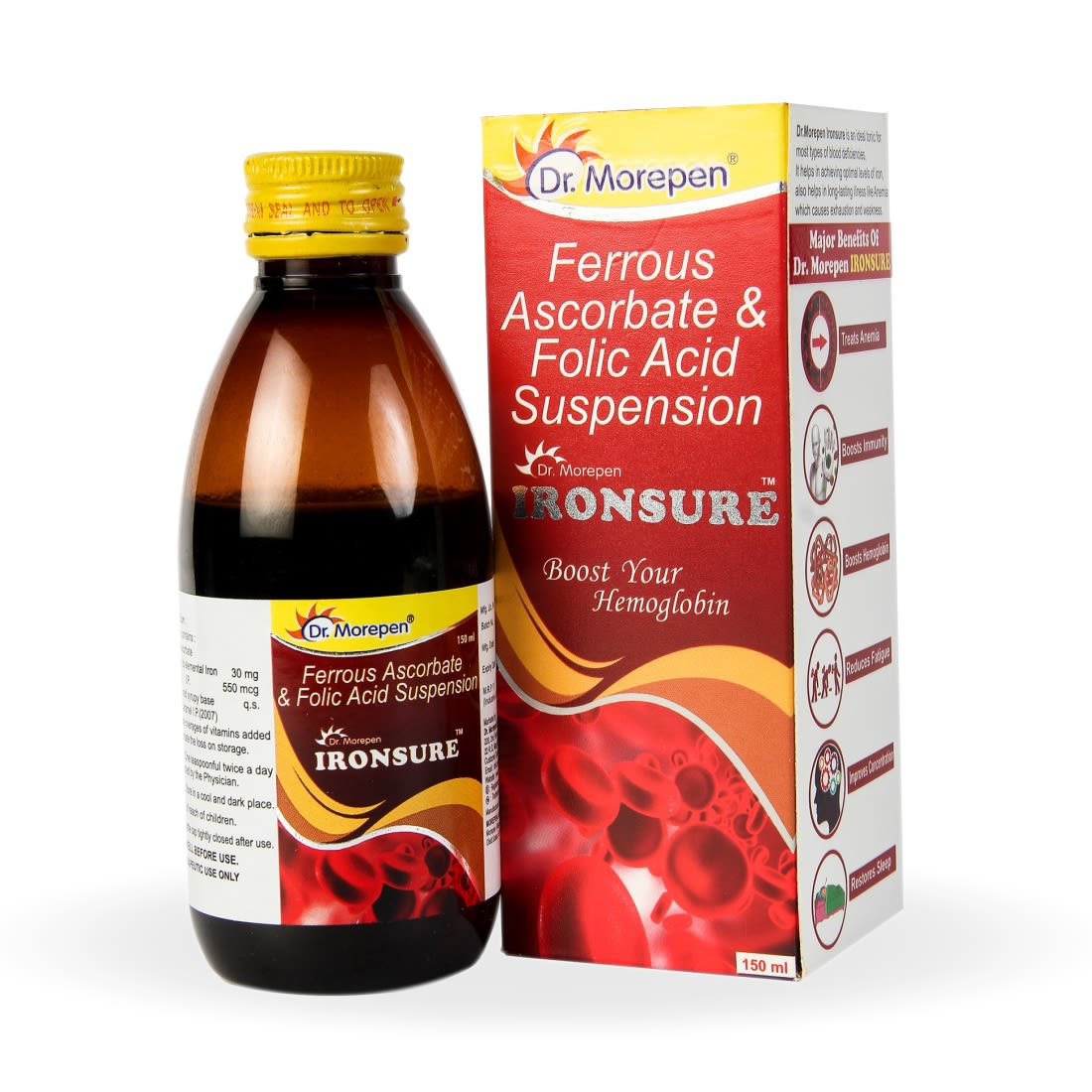 Dr. Morepen Ironsure Hemoglobin Booster Syrup - 150ml