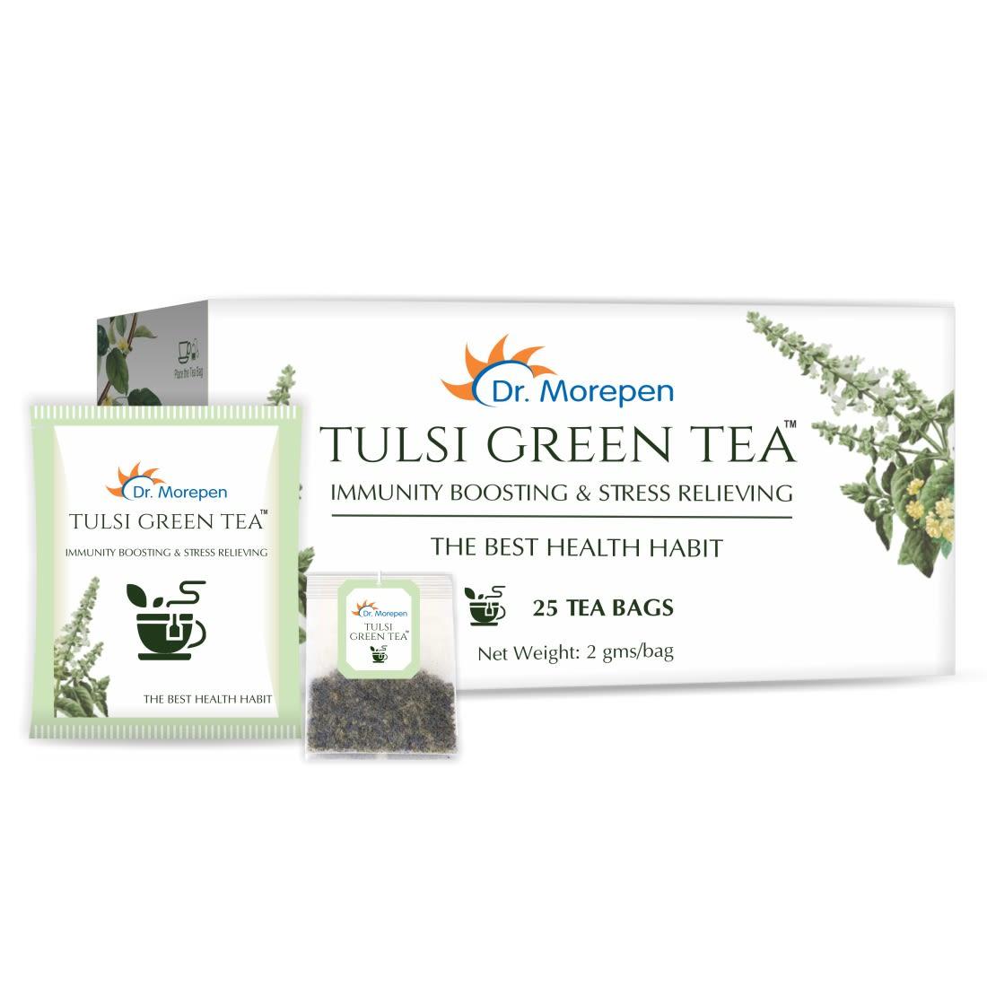 Dr. Morepen Tulsi Green Tea - 25 Tea Bags