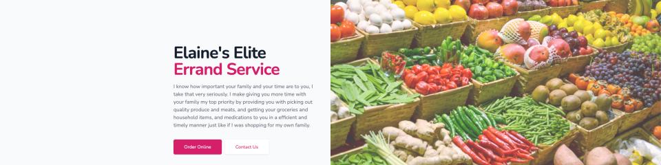 Elaine's Elite Errand Service Website Launched