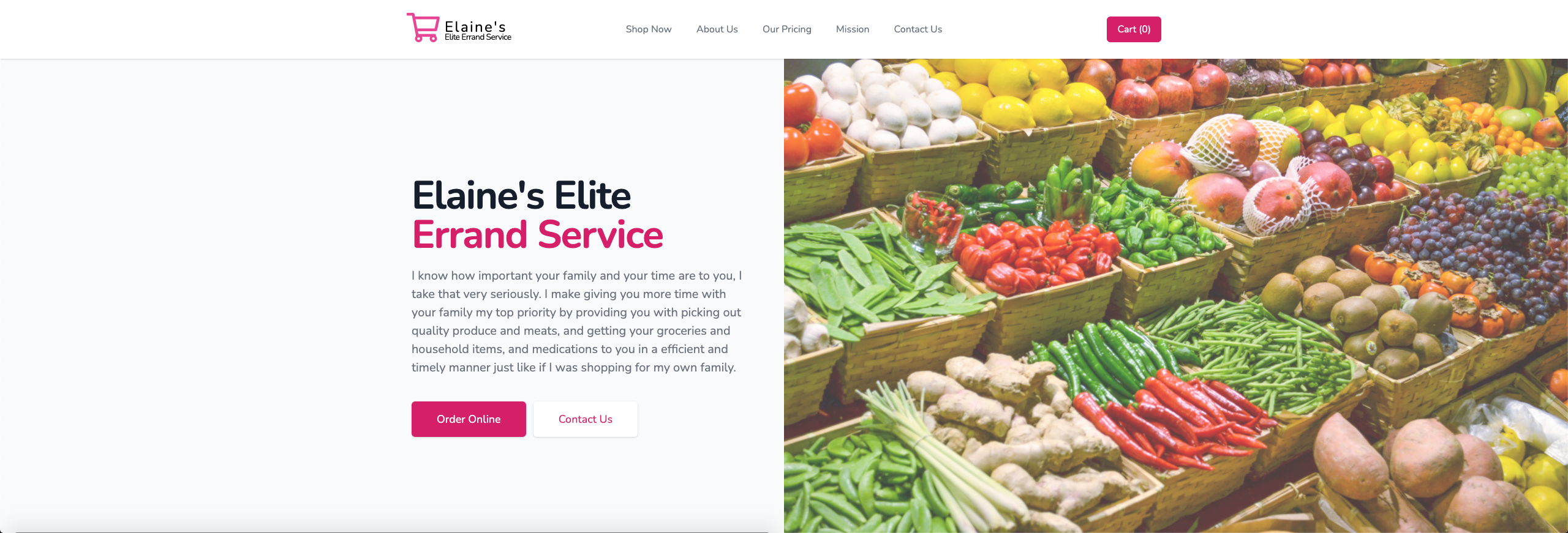 Elaine's Elite Errand Service Website Launched