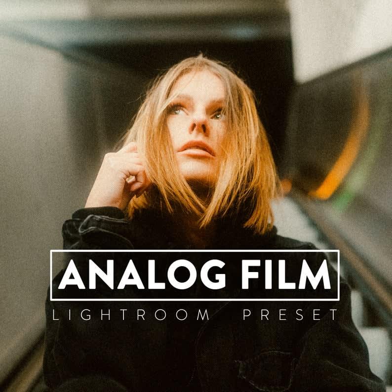 10 ANALOG FILM Lightroom Mobile and Desktop Presets Premium | Film look Retro Vintage analogue.