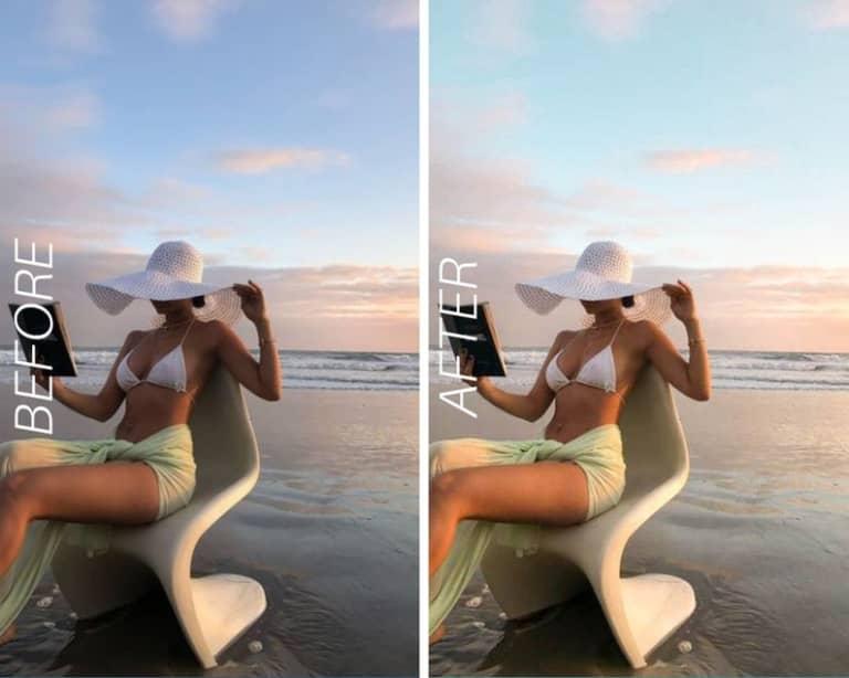 Mobile Lightroom Presets   Instagram Presets   Desktop Lightroom Presets   Influencer Blogger Presets   Summer Preset   Light Beach Preset  